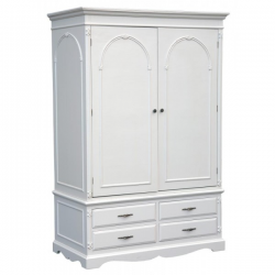 Hambledon Victorian Calm White 2 Door Wardrobe