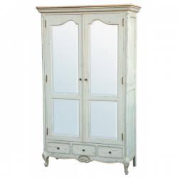 Soft French Blue Wardrobe 2 Doors