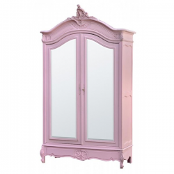 Rose Armoire (Wardrobe) with Full Mirror Doors