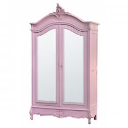 Rose Armoire (Wardrobe) with Full Mirror Doors
