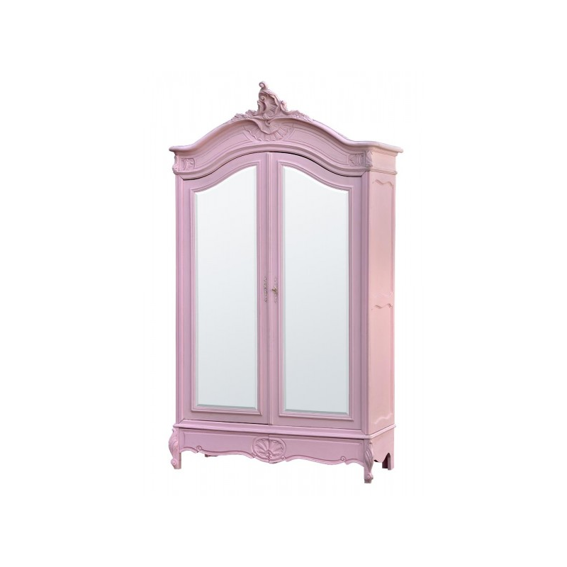 rose armoire wardrobe with full mirror doors forever