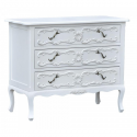 Pure White 3-Drawer Chest of Drawers