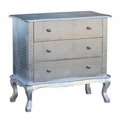 Moc Croc Silver Chest of Drawers