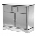 Venetian Mirrored Cabinet with Cupboards & Drawers