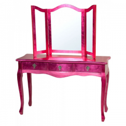 High Gloss Pink Dressing Table
