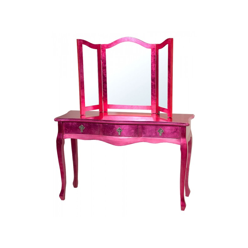 High gloss pink dressing table and mirror forever