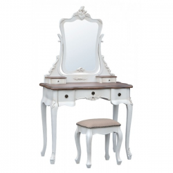 Appleby Soft White Dressing Table with Stool