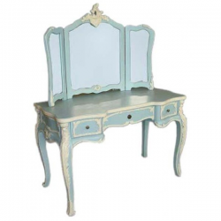 French Blue Dressing Table Set
