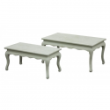 Rustic Sage Green tables - set of 2