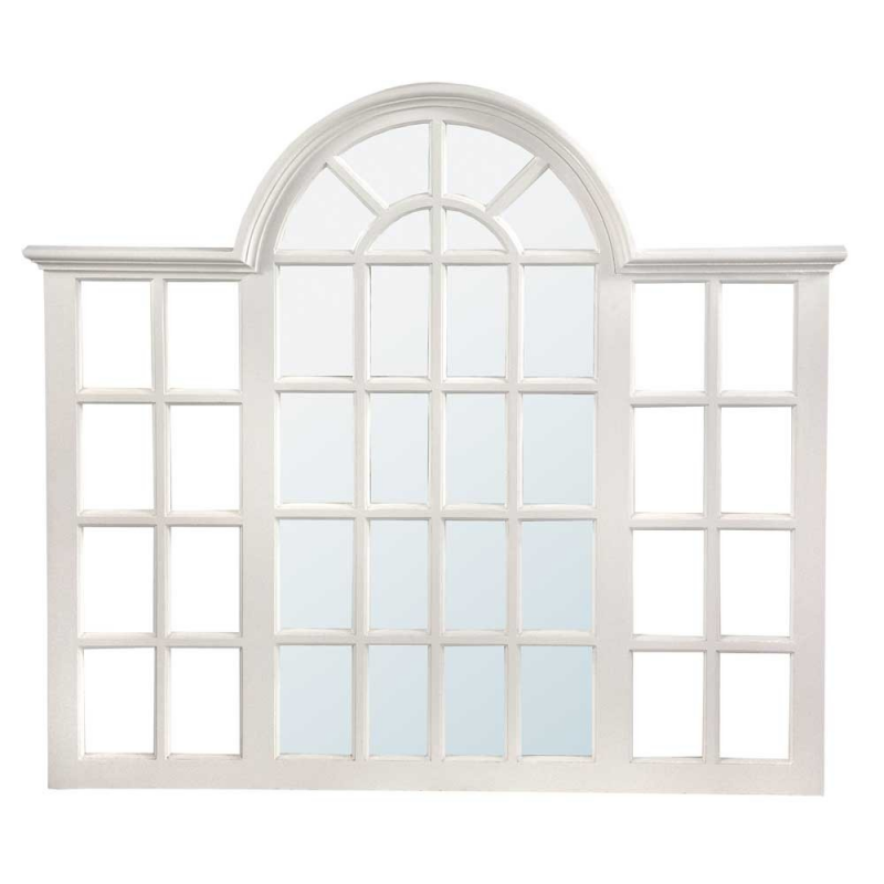Window Style white window style mirror - forever furnishings