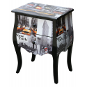 Taxi Wooden Bedside Cabinet/ Lamp Table