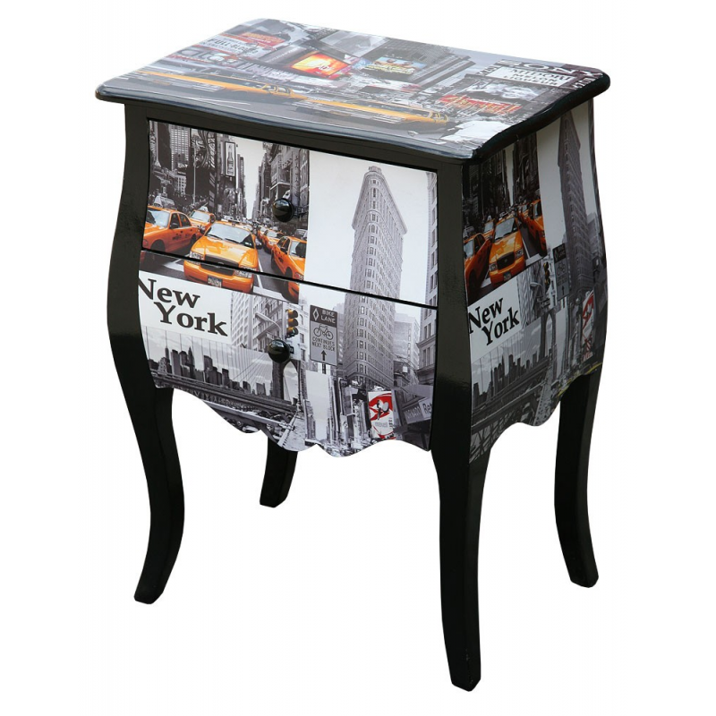 Taxi Wooden Bedside Cabinet Lamp Table Forever