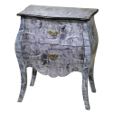 Lounge Lizard Denim Blue Bed Side Lamp Table
