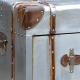 Industrial Aluminum Bedside Lamp Table