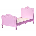French Style Pink Wooden Bed Frame