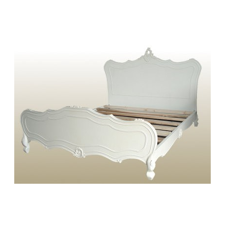 Antique White Rococo King Size Bed Frame Forever Furnishings