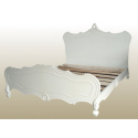 Antique White Rococo King Size Bed Frame