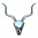 Aluminium Stag Head Ornament