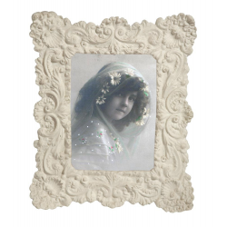 Cream Clay Ornate Photo Frame