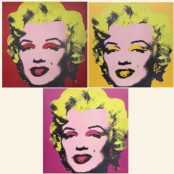 Set of 3, Art Deco Marilyn Monroe Canvas Prints
