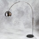 Arc Style Lamp in Chrome with Black Marble Base