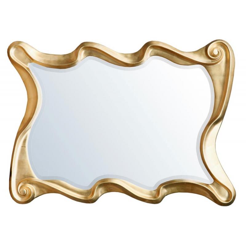 Gold Rectangular Swirl Frame Mirror Forever Furnishings