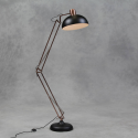 Matt Black Vintage Copper Arms Floor Lamp