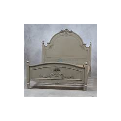 French Grey King Bed