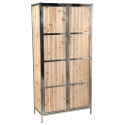 Rustic Industrial Style Wood Panel Armoire Wardrobe