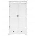 White 2 Drawer and 2 Door Armoire Wardrobe