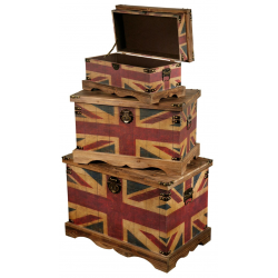 Vintage Union Jack 3 Trunks