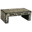 Black and White Zebra Print Coffee Table