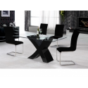 Arizona High Gloss Black Table & 4 Chairs