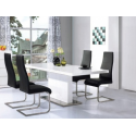 Chaffee High Gloss White Table & Four Chairs