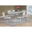 Hagley White High Gloss Dining Set