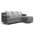 Luxury Dover Grey Jumbo Cord Style Corner Sofa