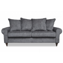 Luxury James 2 Seater Velvet Grey Charcoal Sofa