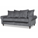 James Luxury Velvet 3 Seater Charcoal Grey