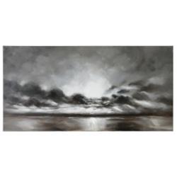 Grey Sunset Canvas Print