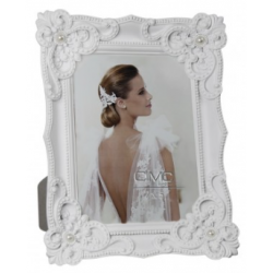 White Elegance Photo Frame 5x7