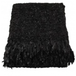 Black Sparkle Weave Large Throw