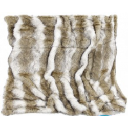 Luxury Brown Sable Faux Fur Throw