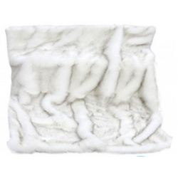 Luxury White Alaska Faux Fur Throw