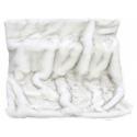 Luxury White Alaska Faux Fur Throw