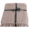 Slate Grey Cable Knit Throw