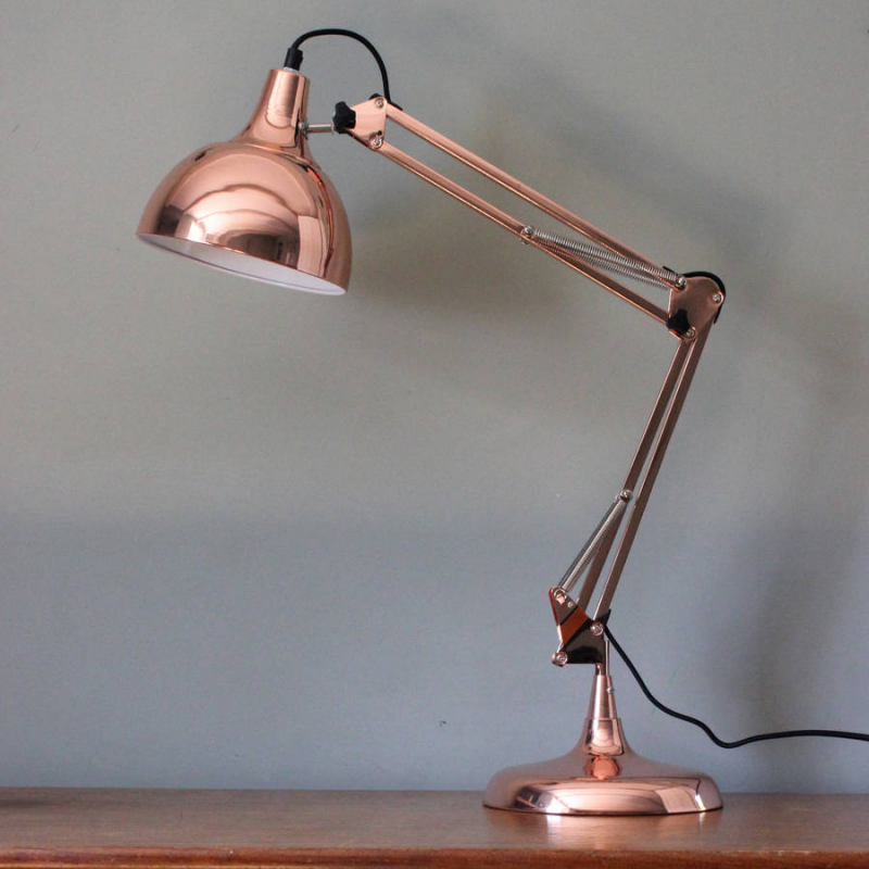 Vintage Copper Traditional Desk Lamp Forever Furnishings