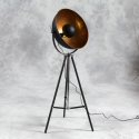 Large Tripod Spotlight Floor Lamp - Gold