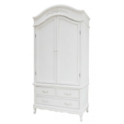 Ivory Wooden French Style Wardrobe - 2 Door