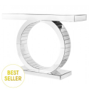 O Frame Mirror Console Table