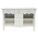 Ivory Wooden French Style Shelving Unit